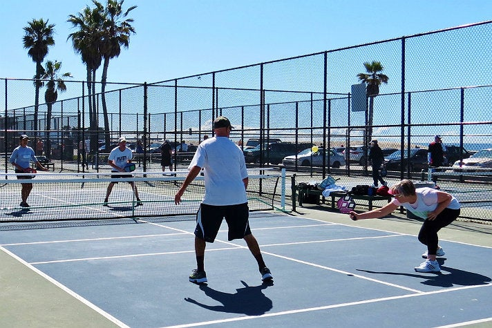 Pickleball at Venice Beach paddle tennis courts